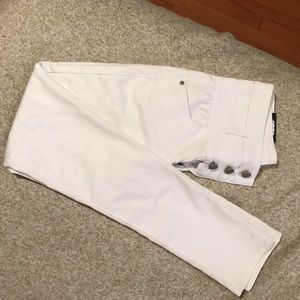 Women white denim pants, new with tags